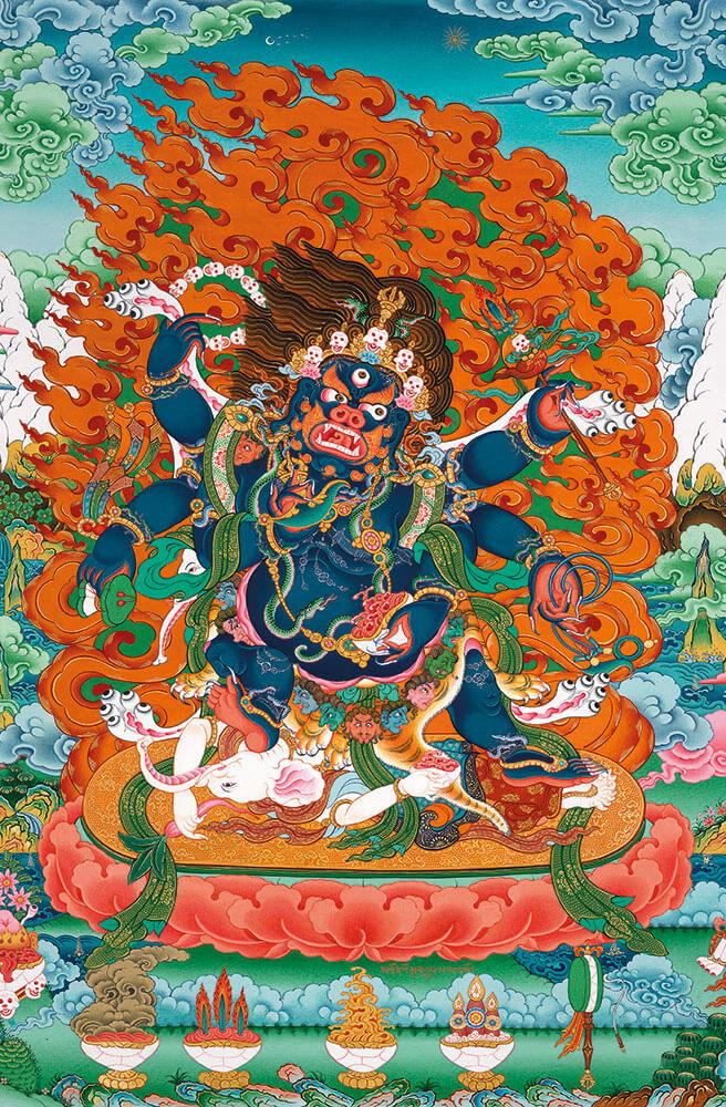 махакала, защитные божества, тантра, дзогчен, искусство танка, дудко