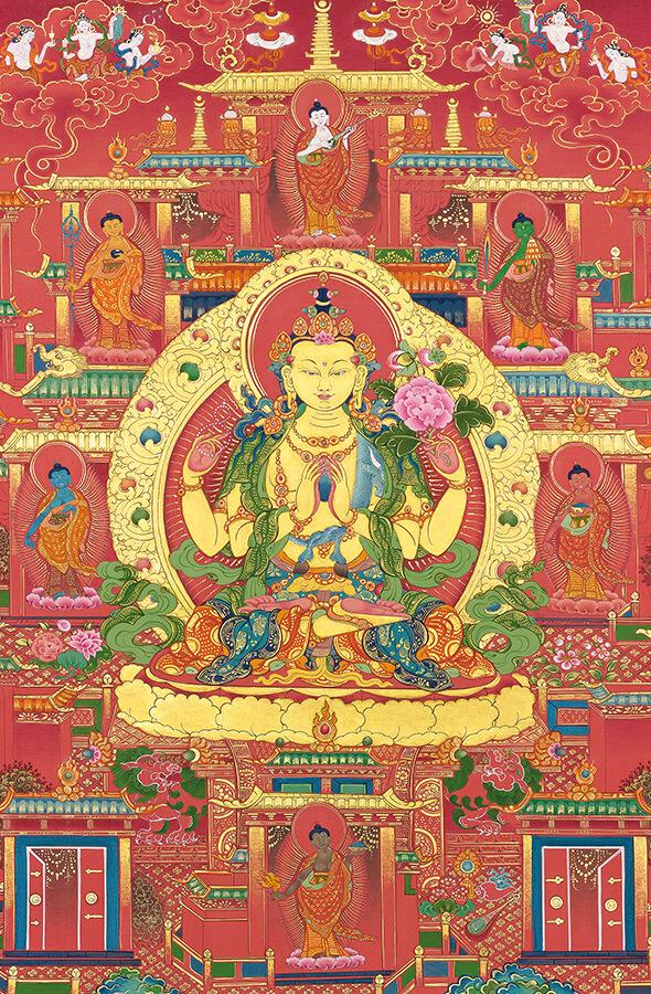 авалокитешвара,ченрези, дзогчен, искусство танка, дудко