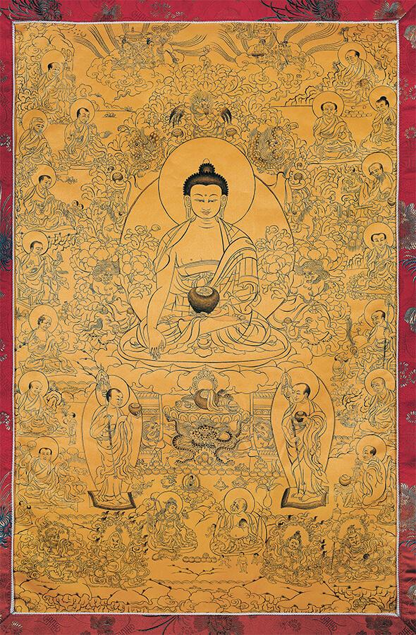 будда, 16 архатов, архат, дзогчен, искусство танка, дудко
