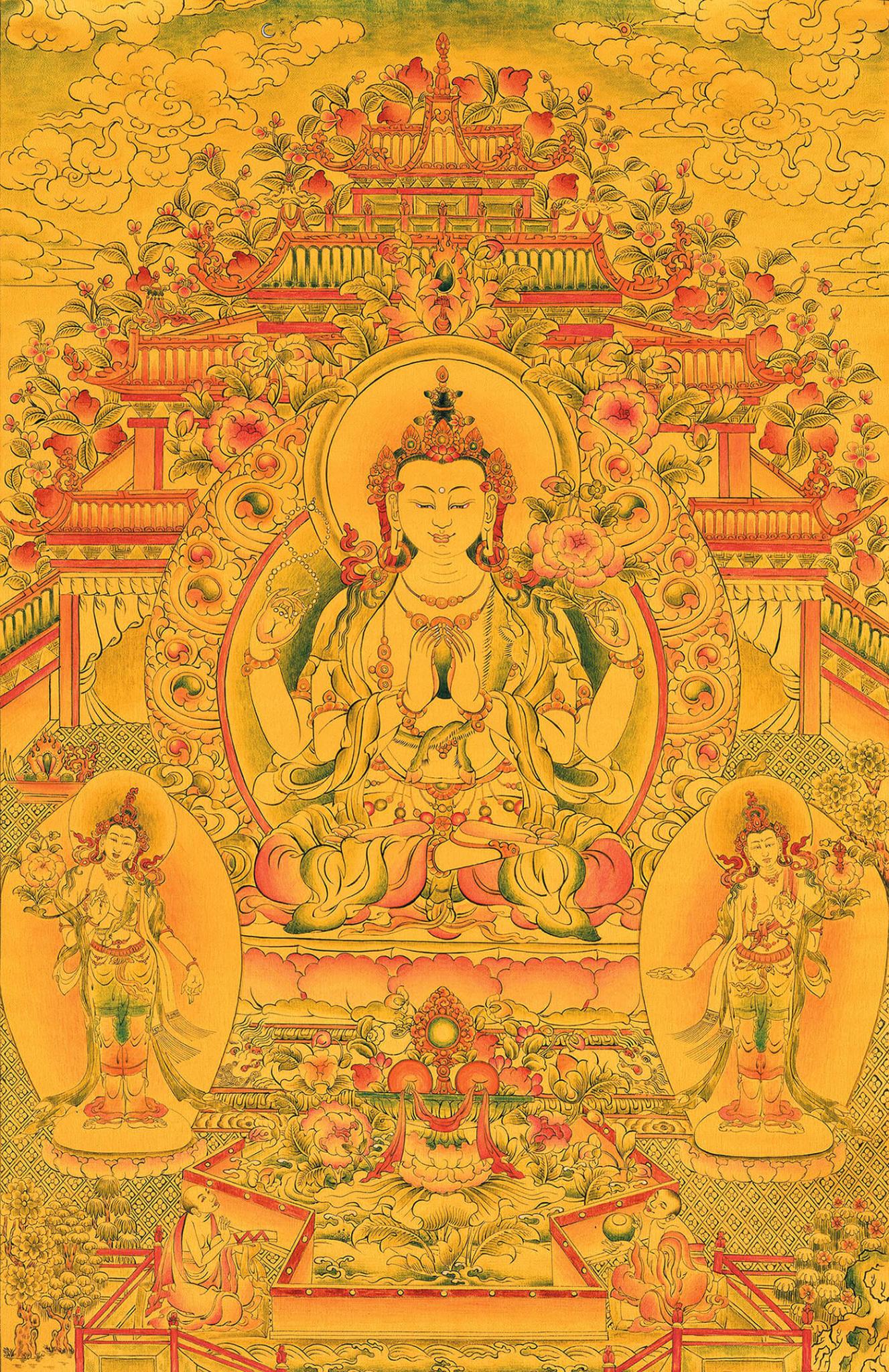 авалокитешвара, бодхисаттва, дзогчен, искусство танка, дудко