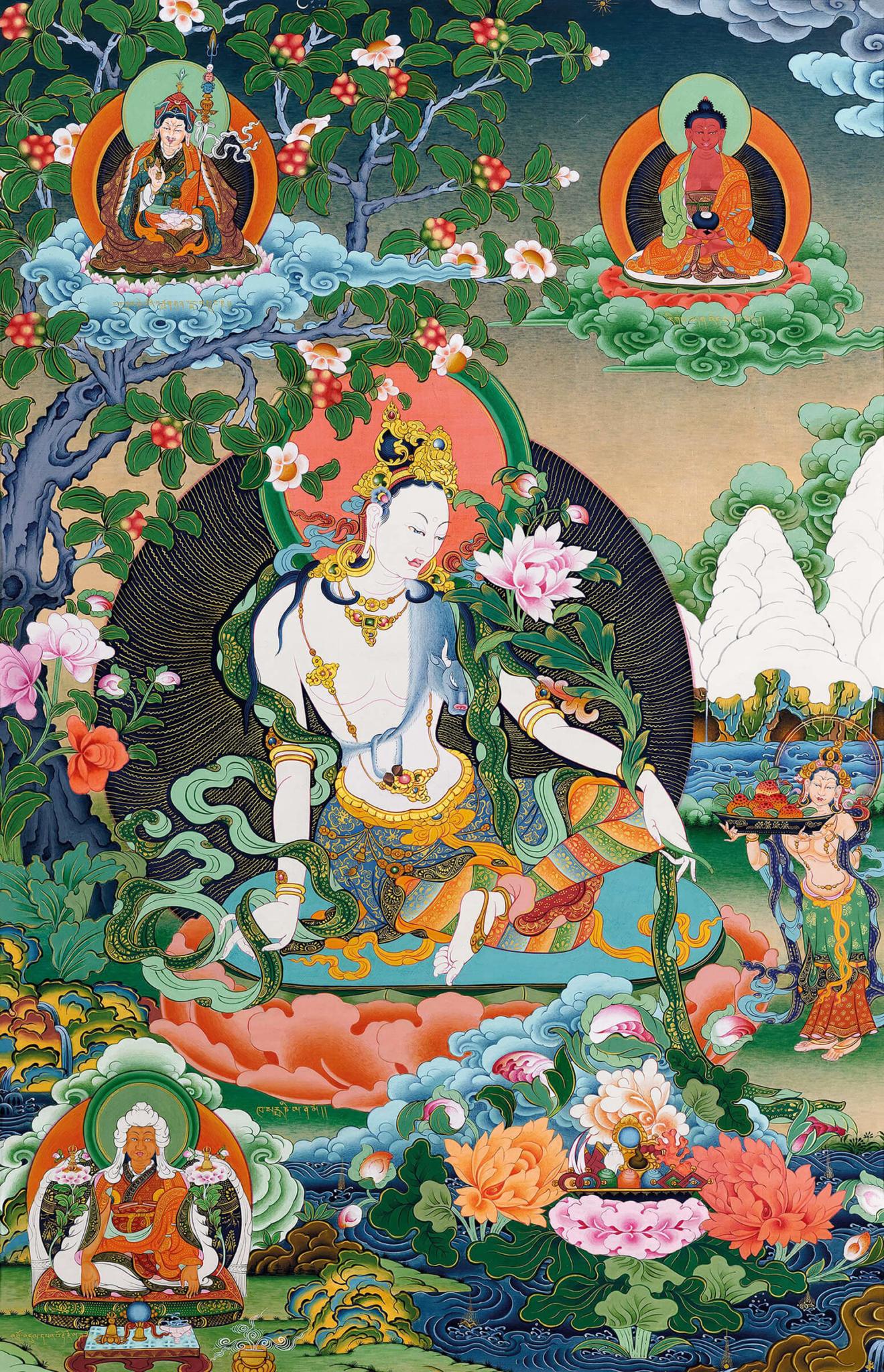 авалокитешвара, бодхисаттва, касарпани, искусство танка, дудко