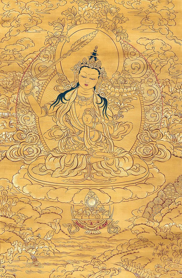 manjushri, wisdom bodhisattva, thangka