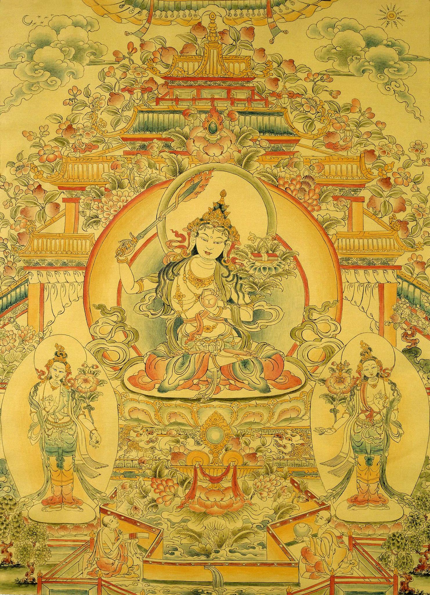 манджушри, бодхисаттва, мудрость, дзогчен, искусство танка, дудко