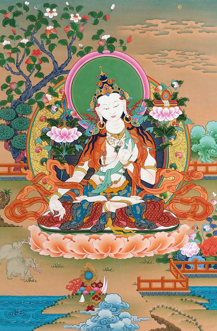 white manjushri, bodhisattva