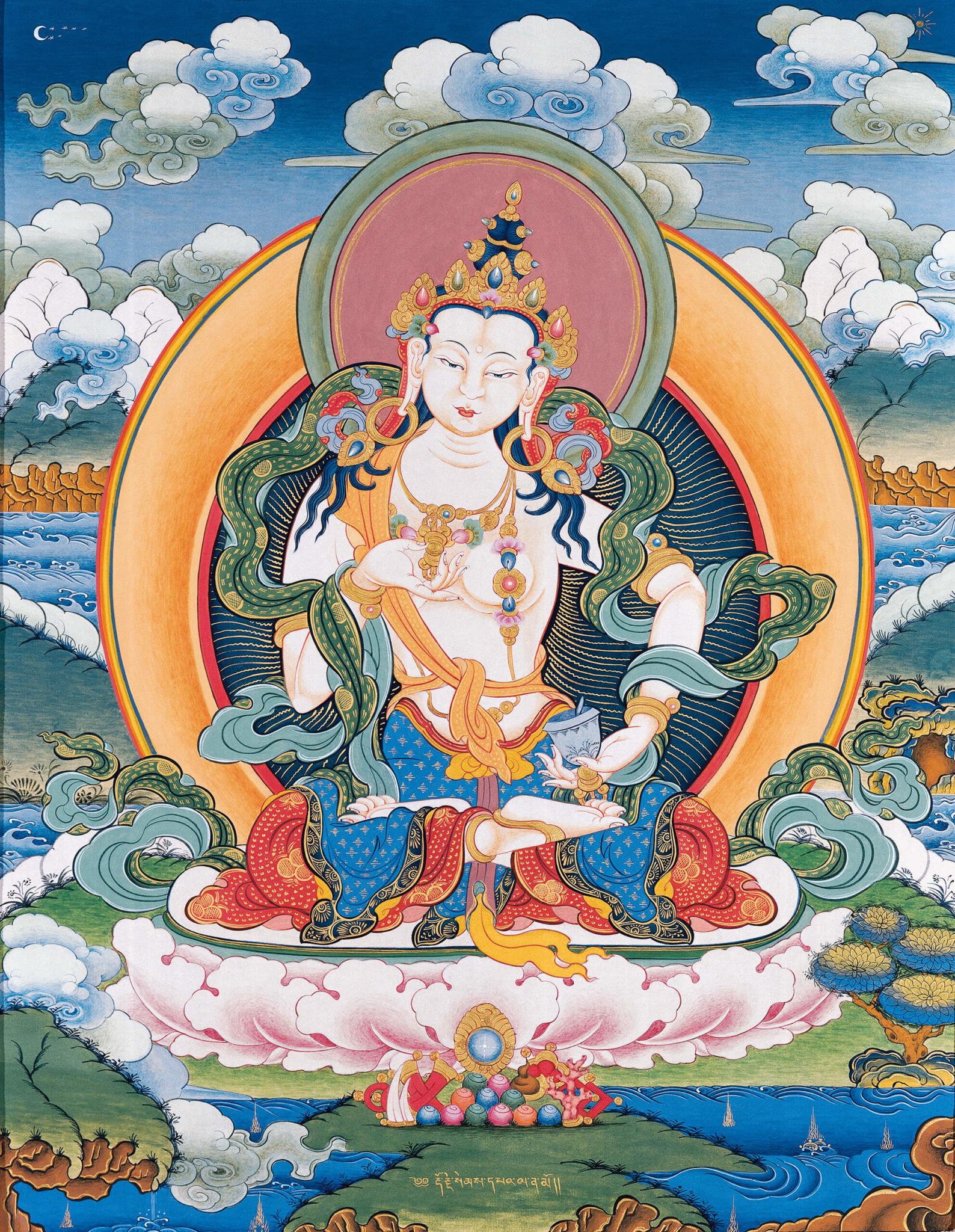 vajrasattva, tantra, dzogchen, buddhist thangka art