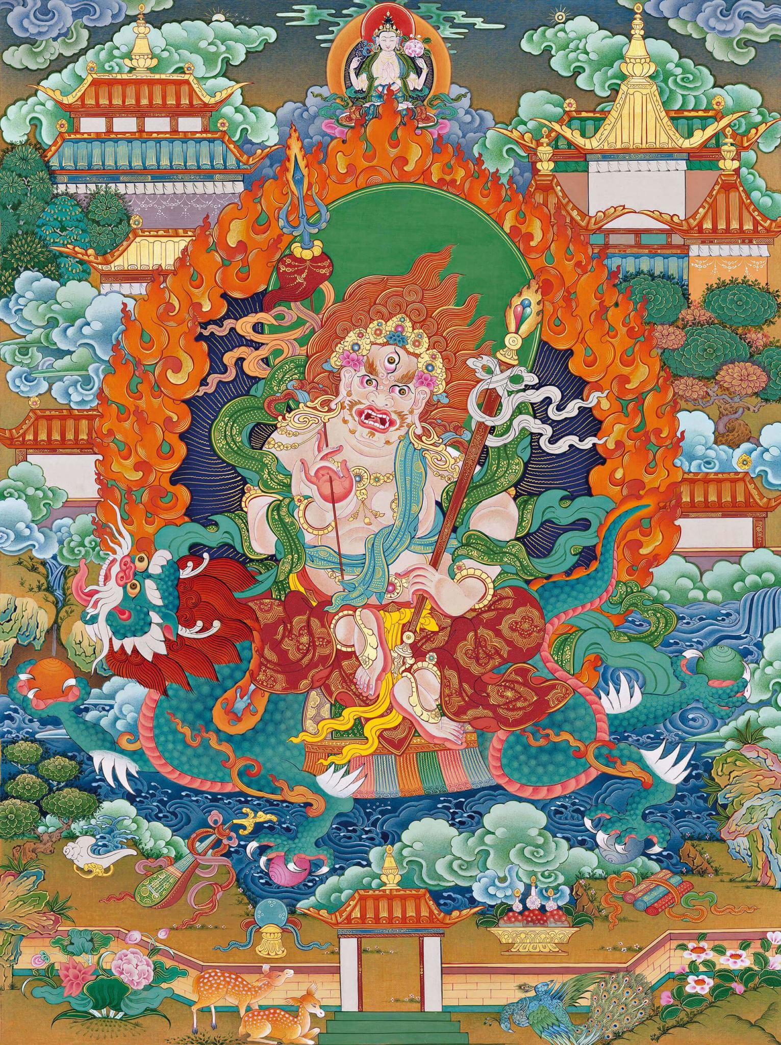 белый дзамбала, божества богатства, дзогчен, искусство танка, дудко
