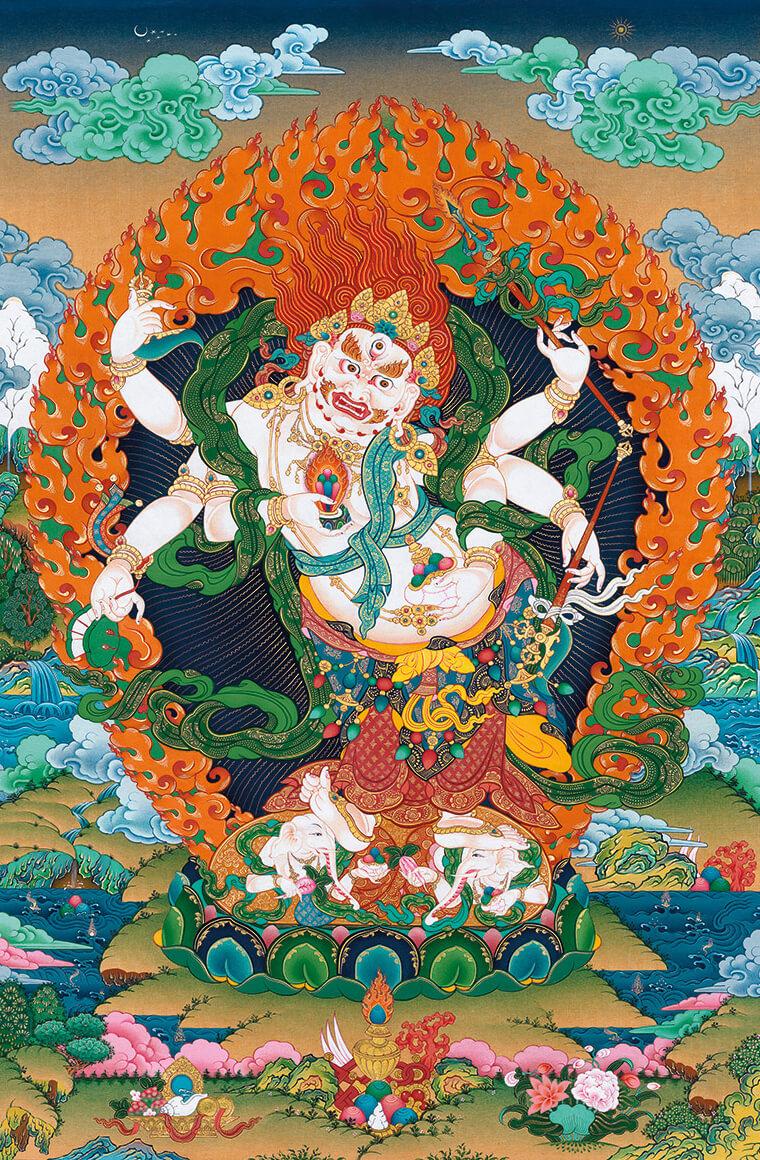 махакала, божества богатства, дзогчен, искусство танка, дудко