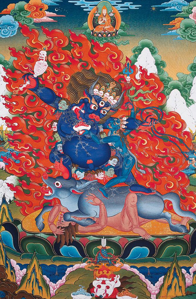 ямараджа,чойжал,буддизм, дзогчен, искусство танка, дудко